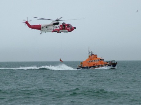 rescue heli with rnli lb