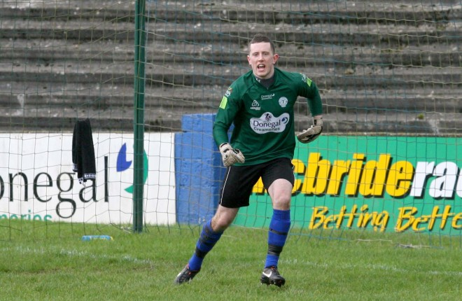 Ciaran Gallagher, Finn Harps who went off concused against Waterford Utd.