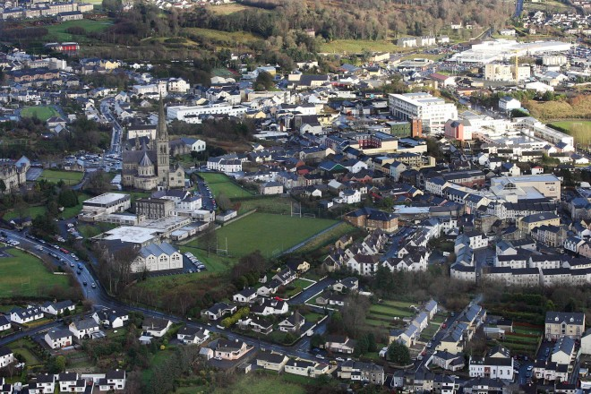 Aerial view of Letterkenny.