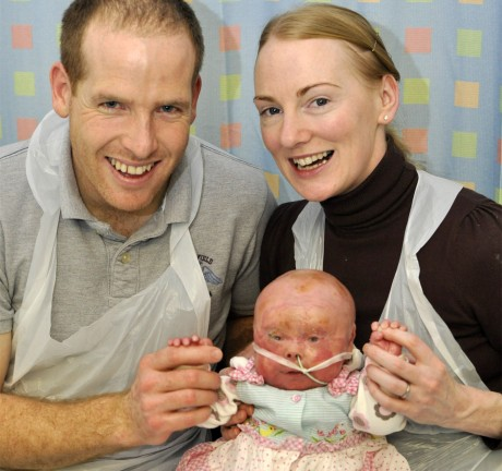 Gary and Carleen Gallagher with baby Lucy.