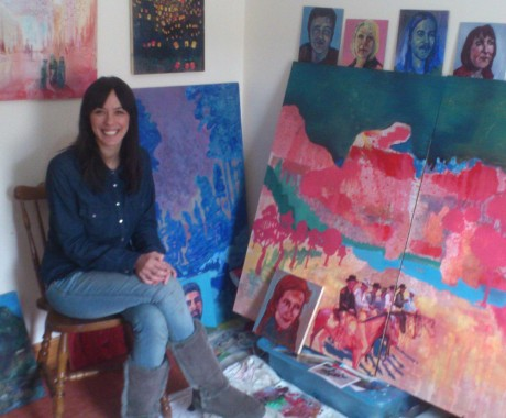 Selena Mowat who, along with Ann Quinn, will appear on Tuesday night's Dublin heat of Sky Arts' Portrait Artist of the Year programme.