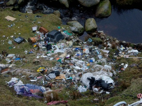 An illegal dump at Bloody Foreland.
