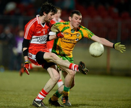 Kevin McFadden in action for the Donegal U21s.