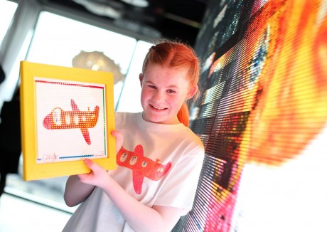 Annie Coyle from Letterkenny, winner of the 2013 Doodle 4 Google competition. Photo:Marc O'Sullivan