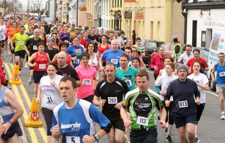 The large field taking part in the Martina Maguire 10K in Ardara on Saturday