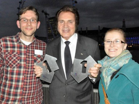 Mary Ruddy, her fiancé Daniel Lane and Engelbert Humperdinck.