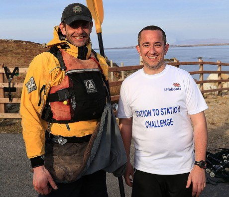 James and Niall after completing their challenge. Photo: Courtesy of CMP Ireland