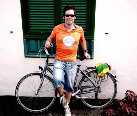 Rpry Gallagher is playing his part for Cycle Against Suicide.