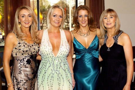 Mary Ferry, Lisa Millar, Eavanna Breen and Phil Carew at the I.B.P.A. Irish Beauty Industry Awards 2009 in the Burlington Hotel, Dublin.