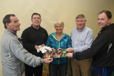 Adian Cannon Barney Curran Grace Boyle, Franke Doherty and Martin Mc Hugh launch the  Donegal GAA Forum which take place at An Grianan Theatre on the 22nd of May.