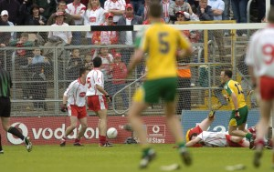 Colm McFadden finds the net in 2003.