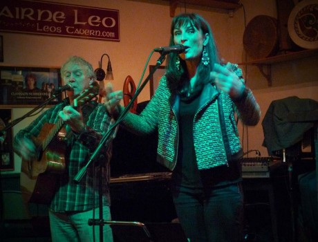 Jacqui Sharkey performs with Ian Smith at last month's CluBeo.