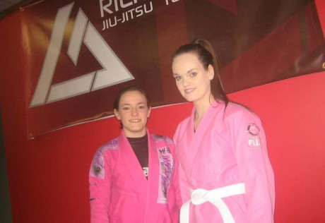 Katie Sweeney (right) from Kincasslagh with Mairead Coyle at the Rilion Gracie Academy in Letterkenny.