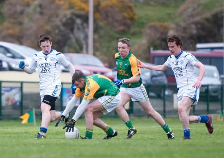 Action from the big game in Glen this evening.