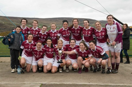 Termon ladies celebrate winning the Gaelteacht Championship.