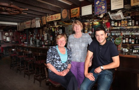 Breege Mackey (left), proprietor, with her sister Sheila and son Gavin, manager of the Bridge Bar, Ramelton.
