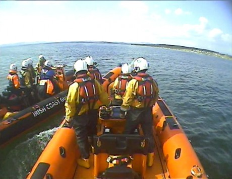Bundoran RNLI and Killybegs Coast Guard at Rossnowlagh.