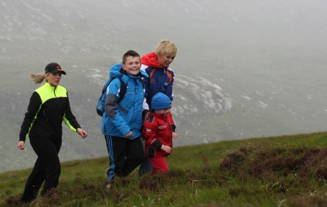 People of all ages joined Jason on his hike of Errigal yesterday.