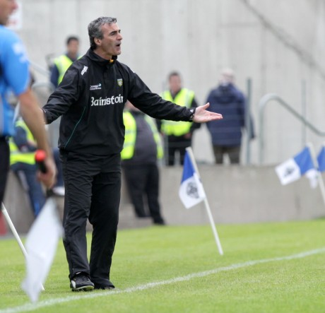 Jim McGuinness on the sideline last Sunday. Photo: Donna McBride.