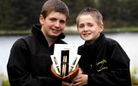 Pens fit for a President....The Mc Garvey brothers from Donegal Pens, Ronan, 16, and Conor, 13, with the four handcrafted pens for the Obama family during their Irish visit. (Pic: Eoin Mc Garvey)
