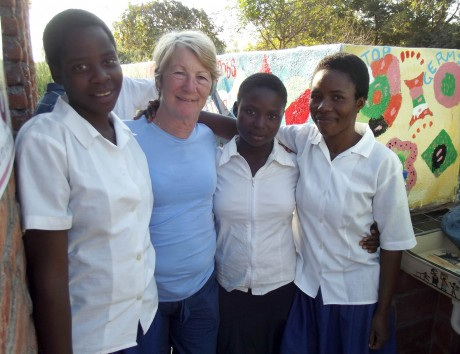 Betty Clancy with some Ubwino girls.