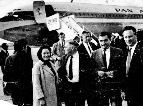 Rosaleen Harte, Miko Browne, former TD Ballina Co Mayo, Pierre Salinger White House Press Secretary and Paddy Harte, Former Dail Deputy.