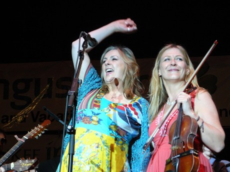 Moya Brennan and Mairéad Ní Mhaonaigh - Clannad and Altan are heading the double bill for Abhaile - The Homecoming in Carrickfinn.