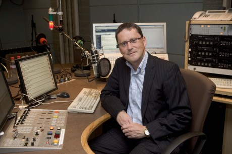 George Lee pictured in studio at RTE Radio 1.