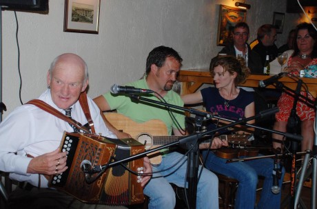 You never know who will turn up to provide musical entertainment at Teach Mici Ban's for Oiche Airneal.