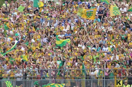 Donegal fans who turned out in huge numbers to the Ulster final in Clones.