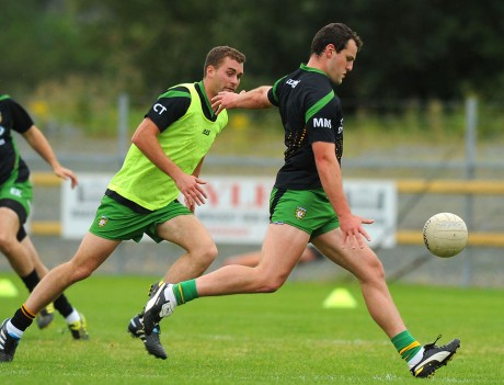 Michael Murphy and Eamonn McGee in training for the Ulster final with Monaghan.