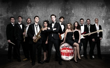 Denis Grindel (centre) and the cast of West End musical version of The Commitments. Photo: Trevor Leighton
