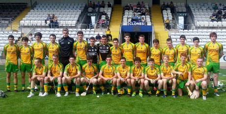 The Donegal all Ireland B Semi-finalists who lost out to Meath in Clones on Saturday.