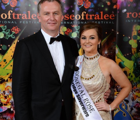 Donegal Rose Catherine McCarron with Daithí Ó Sé. Photo By : Domnick Walsh