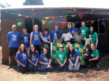 The group from Rathmullan who went to Malawi recently to build houses with Habitat for Humanity: Back Left to right- Derek Edwards, Niamh Sheridan, Chrsitine Edwards, Roisin Loughrey, Mo Kelly, Niamh McElwaine, Peadar Folan, Eamonn Sheridan, Sine Friel. Front left to right, Liam Loughrey, Carol Richardson, Connie Barrett, Sarah Sheridan, Margaret Ann Gallgaher (standing)