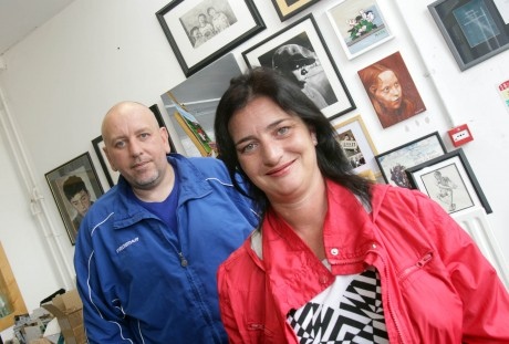 Artist Rachael Bradley with mentor Peadar McDaid, Create-A-Link. Photo: Donna McBride