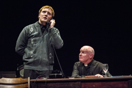 Eoghan McBride and John Ruddy performing in Mass Appeal which is on on Saturday night 10th & 17th august in An Grianan Theatre. Photo: Alan McLaughlin