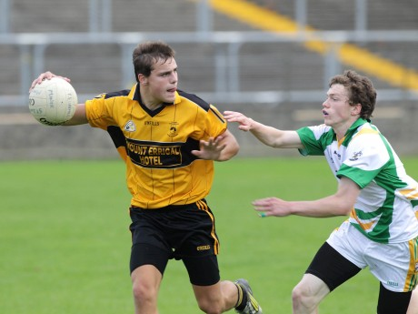 St Eunan's David Tyrell and Joseph McGrory, Buncrana, will cross paths again in the Donegal MFC final.