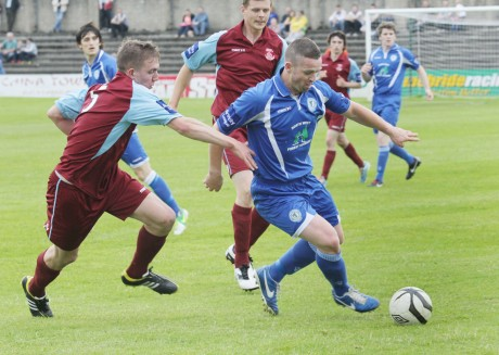 Kevin McHugh netted for Harps, but they face a replay in Cobh on Monday.