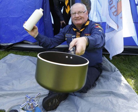 Community hero and Lifford Scout Leader Joe Boland, who has won the inaugural Calor Community Champion 2012.