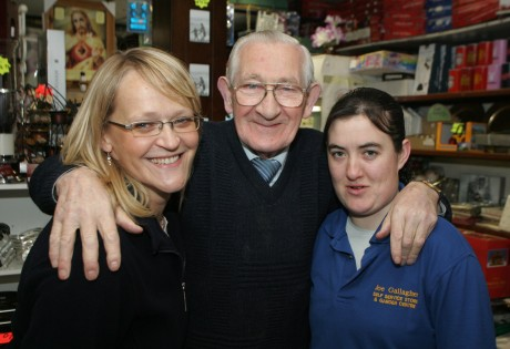 Joe Gallagher with Rachel Mullen (left) and Susan McBride.