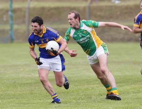 Kilcar's Michael Hegarty and Glenswilly's Neil Gallagher will clash again on September 15. Photo: Donna McBride