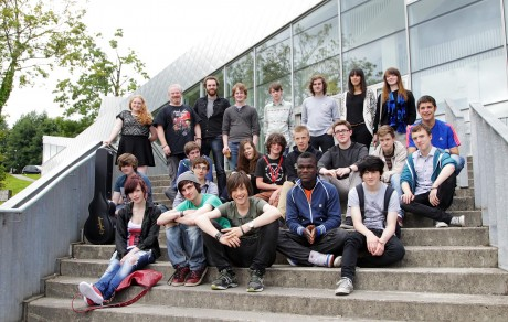 Students of Music at the Regional Cultural Centre with tutors. Photo: Donna McBride