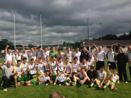Donegal Under 17s celebrate their win on Saturday.
