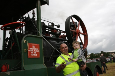 Charlie and Lee Patton, Stranorlar, at last year's the Finn Valley Vintage Rally and Threshing Day.