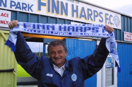 Noel King after being appointed Finn Harps manager in 2003.