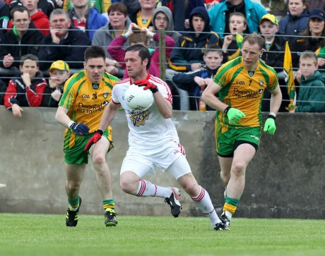 Martin O'Reilly in action for Donegal against Tyrone.