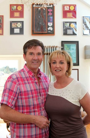 Daniel and Majella O'Donnell at home last year.