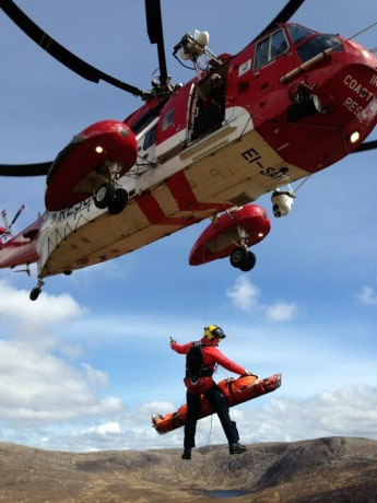 Donegal Mountain Rescue team on Errigal on Saturday afternoon.