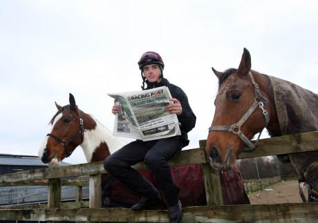 Martin Harley relaxing at his stables in Rathdonnell. Photo: Donna McBride